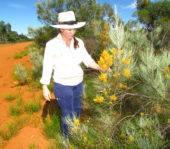guide tour woman flower botanist wildflower