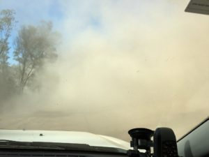 Driving on outback Queensland dirt roads